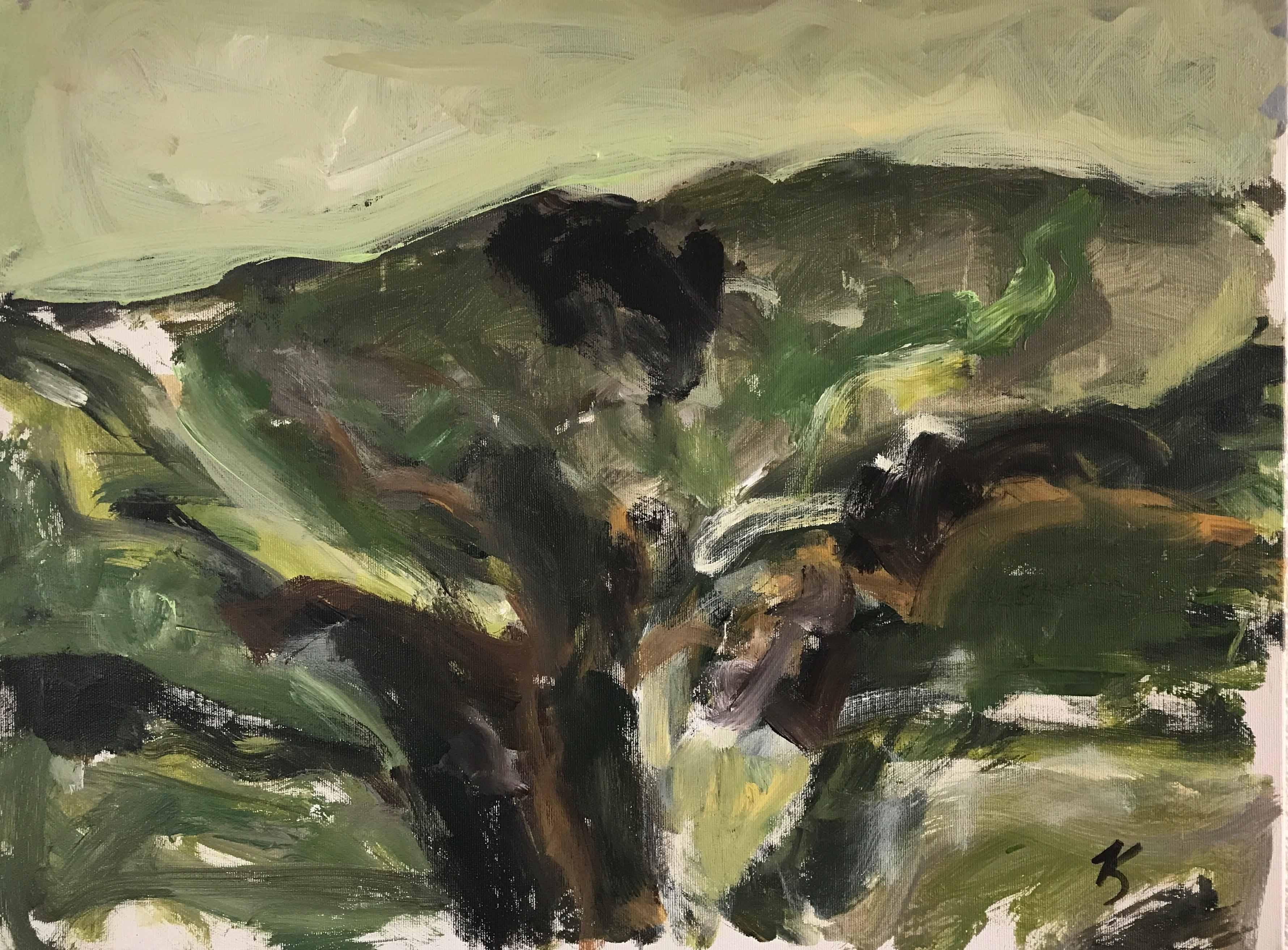 Verdure, 45x60cm,acrylique sur toile, 2017