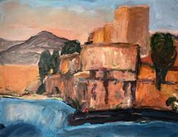 Collioure le chateau royal, 90x70cm; 2018 sm