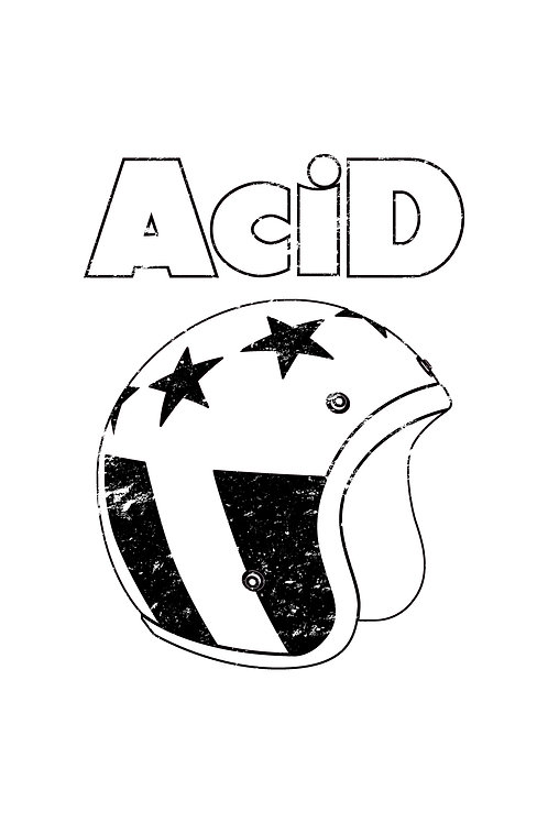 ACID T SHIRT WHITE HELMET LOGO