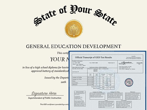 HS Transcript and Diploma Package