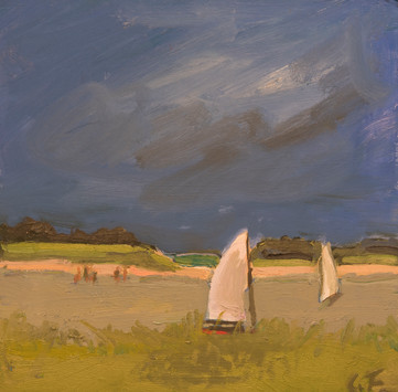 Two Sailboats and People. 2018
