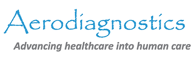 Aerodiagnostics logotype w tagline (Whit