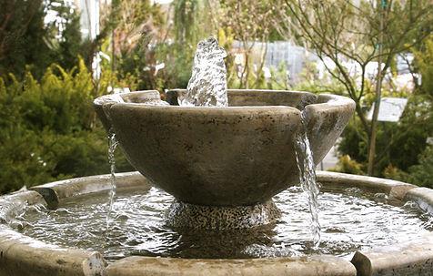 stone garden fountain