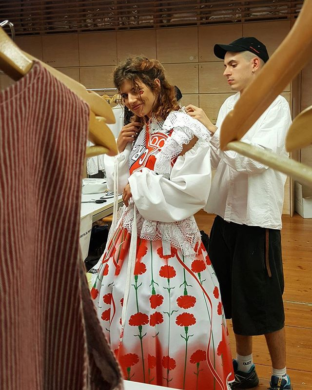 #fashionatiuav2017 #fashionatiuav #iuavgraduationshow  #linnocenzadelmuro #backstage #iuav #venice #