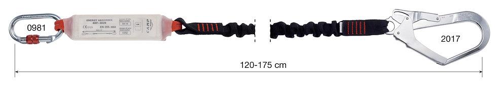 CAMP SAFETY - LONGE SIMPLE SHOCK ABSORBER REWIND - CA 70301.02