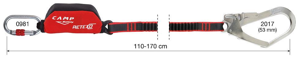 CAMP SAFETY - LONGE SIMPLE RETEXO REWIND - CA 70501.01