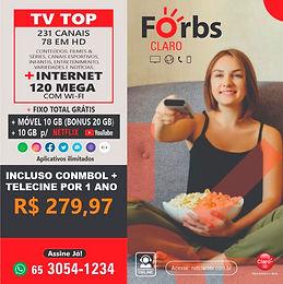 240 Mega + Top HD +Móvel 10GB + Fixo Ilimitado