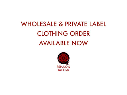 Wholesale and Private Label Clothing is available for order now at Repulo's