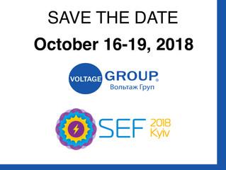 Voltage Group at SEF 2018 Exhibition in Kyiv, Ukraine