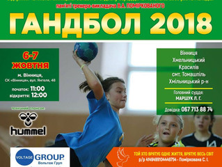 Запрошуємо на Чемпіонат Вінницької області з гандболу 2018