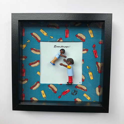 Cadre Playmobil - Bonne Fête Papa