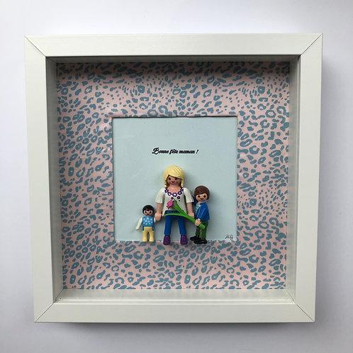 Cadre Playmobil - Bonne Fête Maman