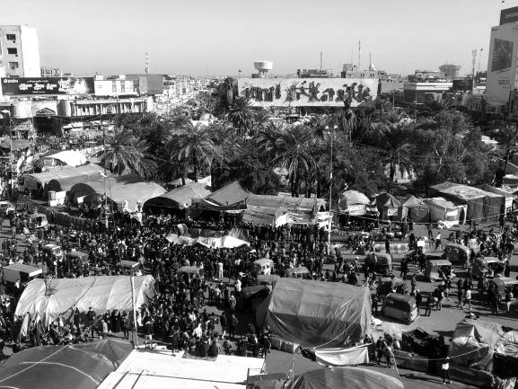Das Camp der Demonstranten - nicht nur ein Hort des Widerstands, sondern auch ein Ort der Gegenkultur. Bild: Sinan Salaheddin Mahmoud
