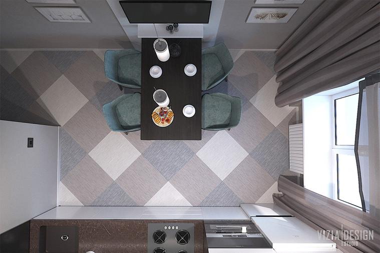 Плитка под текстиль на полу кухни.jpg