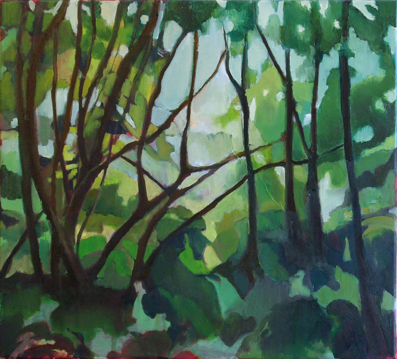 Une forêt sur le motif