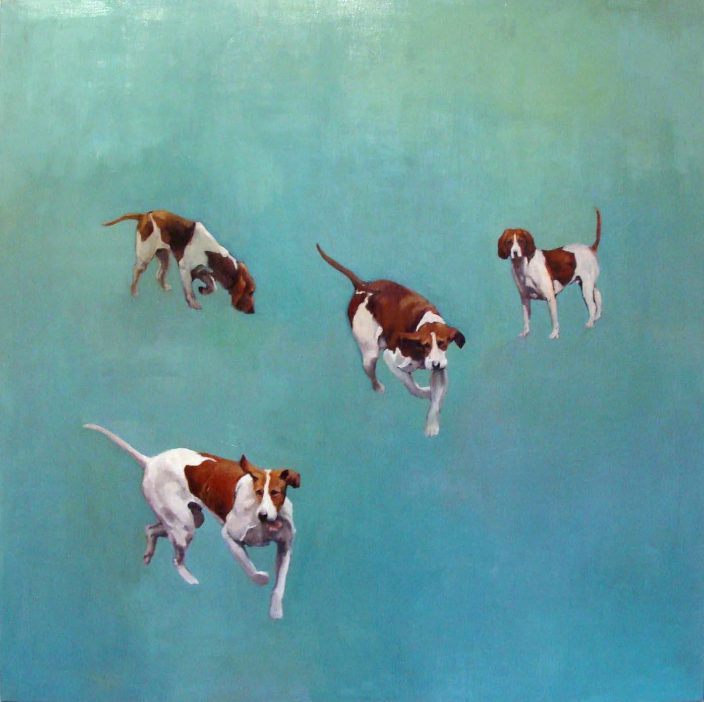 Des chiens de chasse