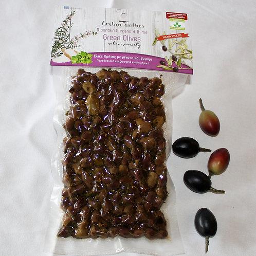 Grüne Oliven mit Kräutern 200g