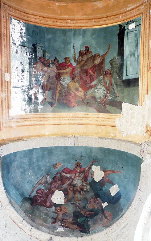 fresque martyr saturnin église saint sernin daumazan gothique et romane