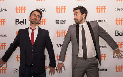 Adam Stein and Zach Lipovsky at the premiere of Freaks