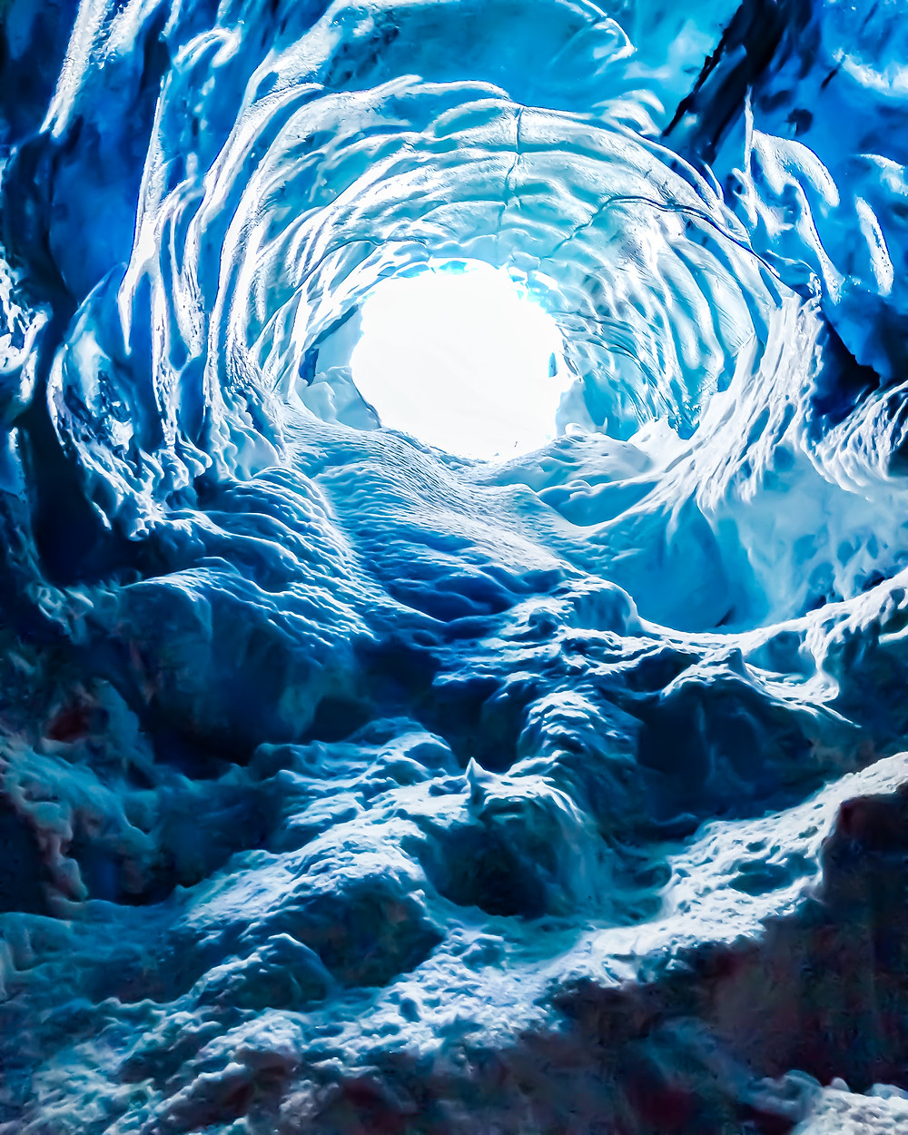Blue Glacier Ice Caves in Iceland