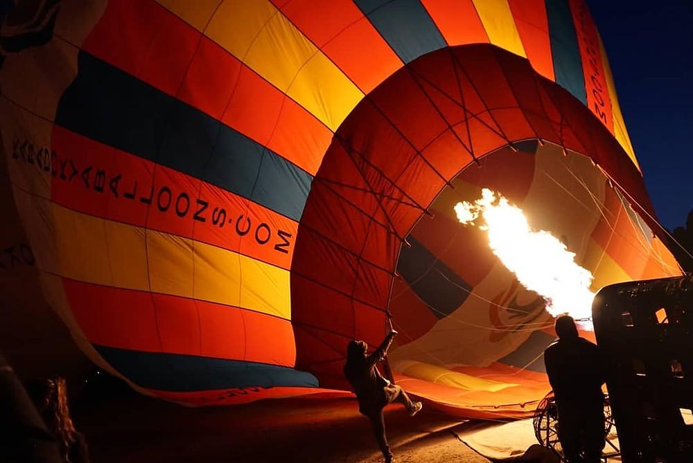 Hot air ballooning in Cappadocia.