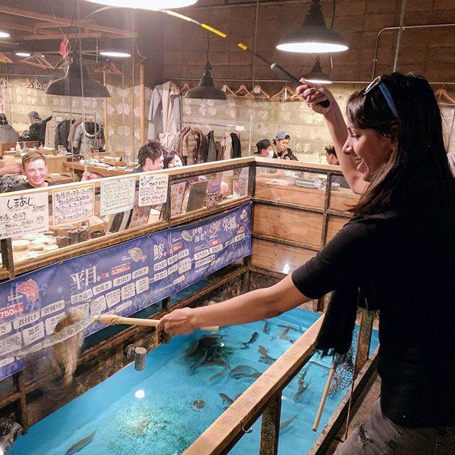 Fishing restaurant in Tokyo, Japan