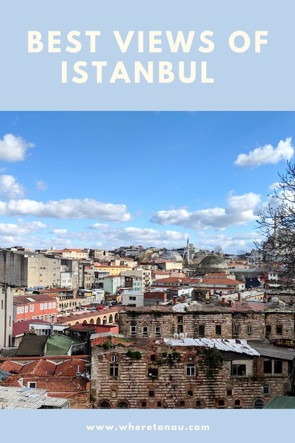 Rooftop views of Istanbul, Turkey and travel guide.