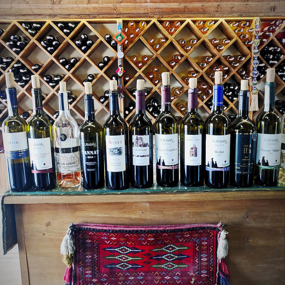 Local wines in Cappadocia, Turkey. Wine country.