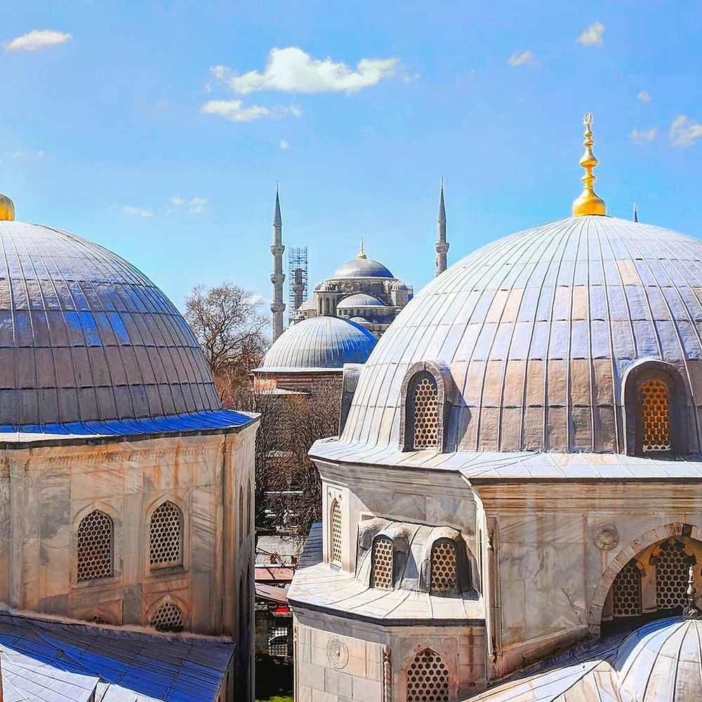Beautiful places to visit in Turkey. Hagia Sophia in Istanbul.