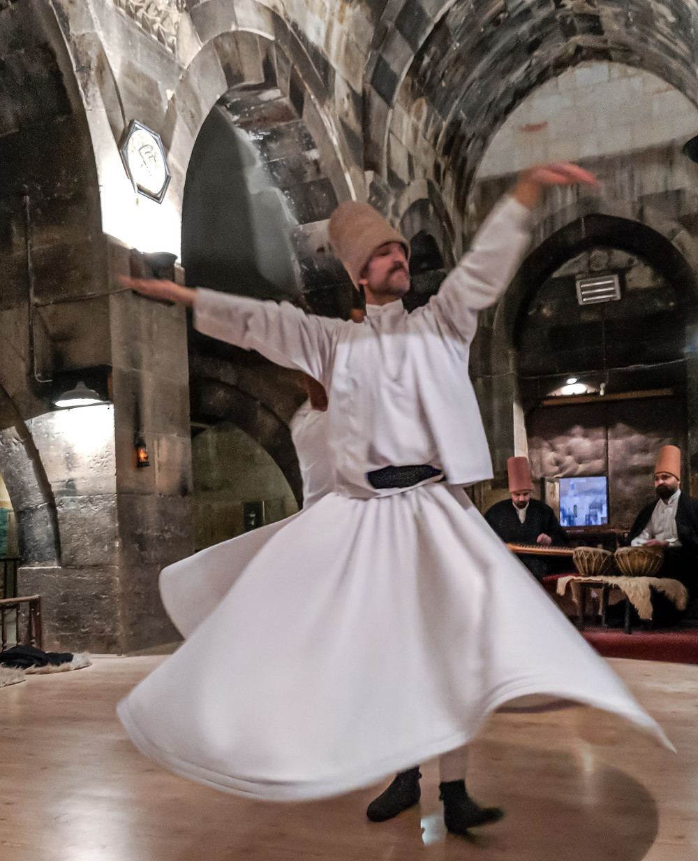 Spiritual and religious ceremony. Cappadocia, Turkey.