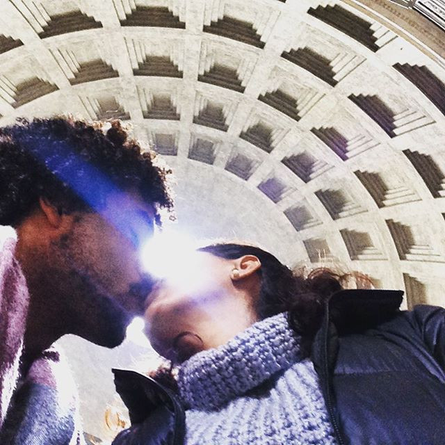 Lovers at the Pantheon in Rome