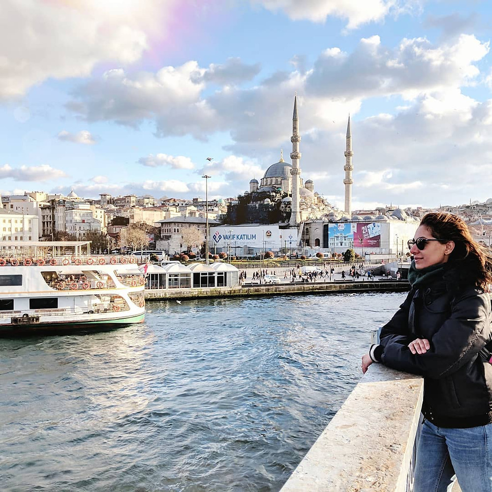 Places to travel and take the ferry in Istanbul Turkey