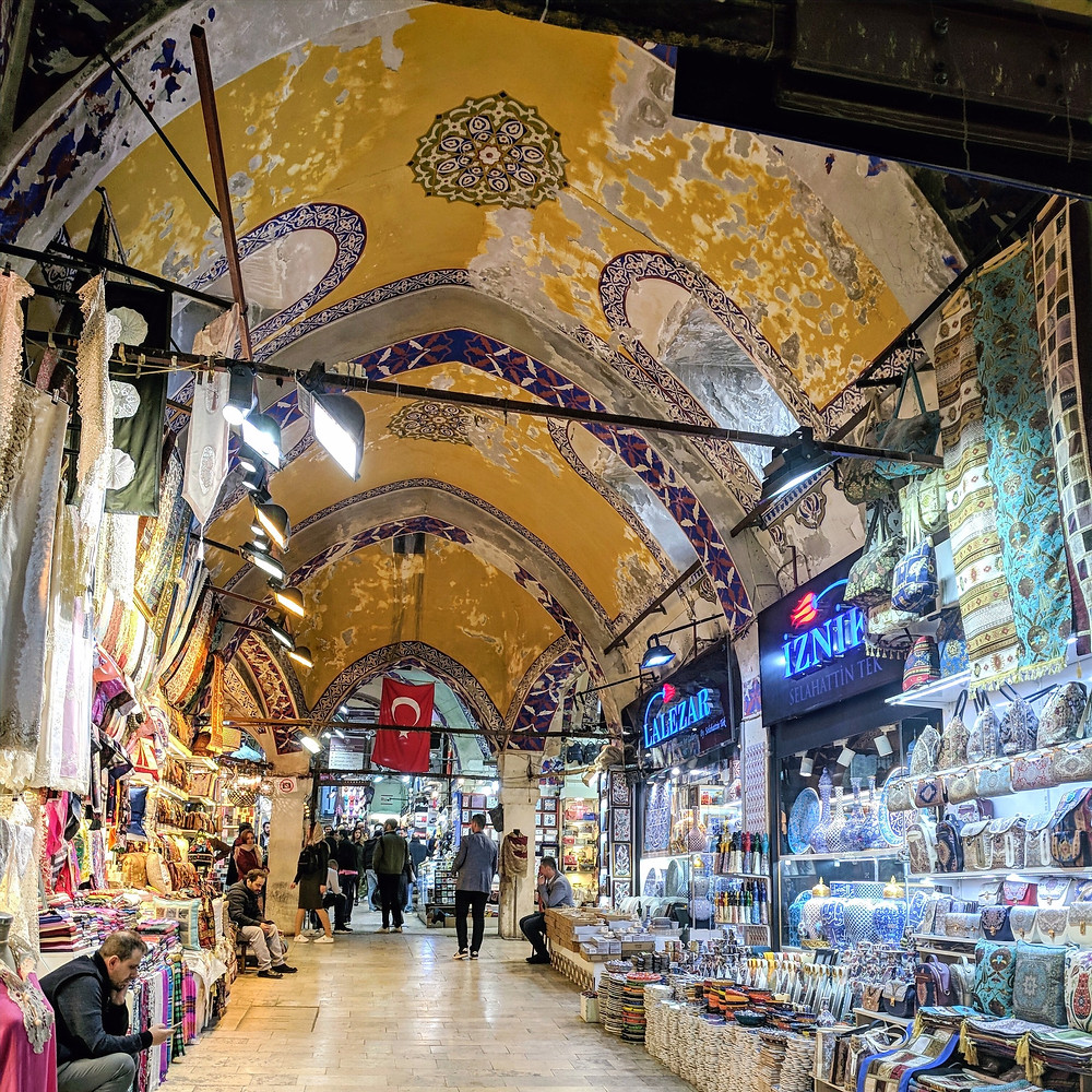 Shopping at the grand bazaar in Istanbul, turkey. Inside view of the grand bazaar. Turkey Destinations.