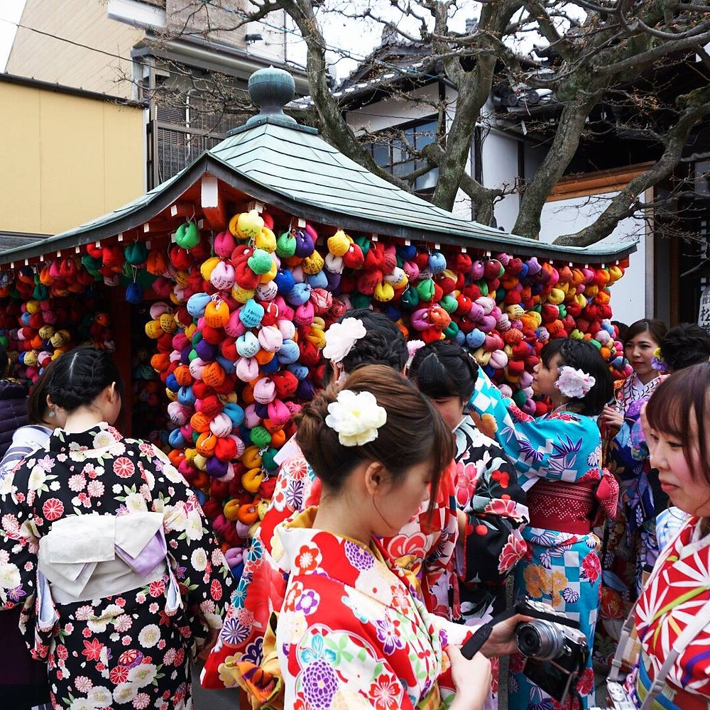 Japanese Culture. Kimono Lifestyle.