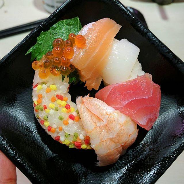 Conveyor belt sushi restaurant in Tokyo