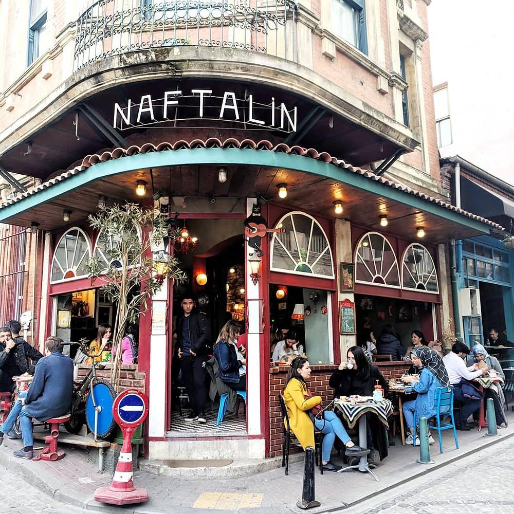Cafes in Balat, Turkey.