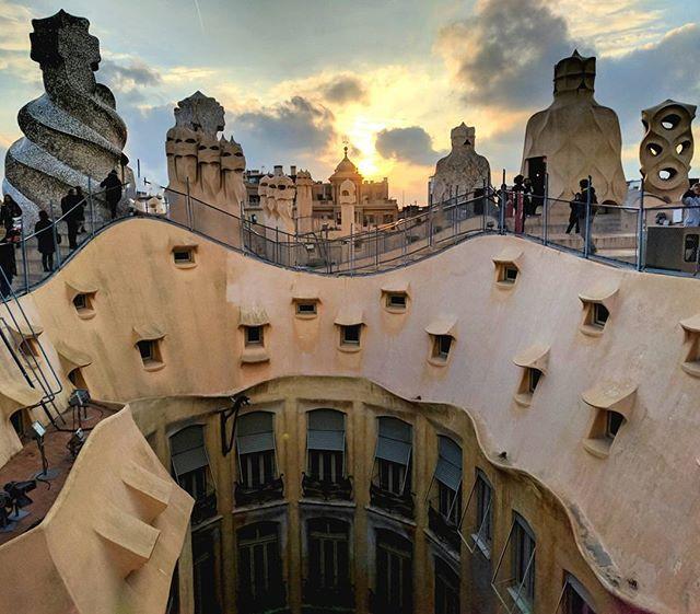 Antoni Gaudi's Casa Mila.