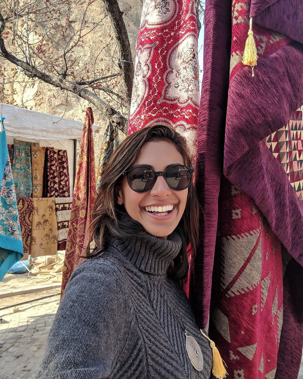 Travel Blogger Naureen Chhipa from Where to Naureen exploring the magical landscape of Cappadocia.