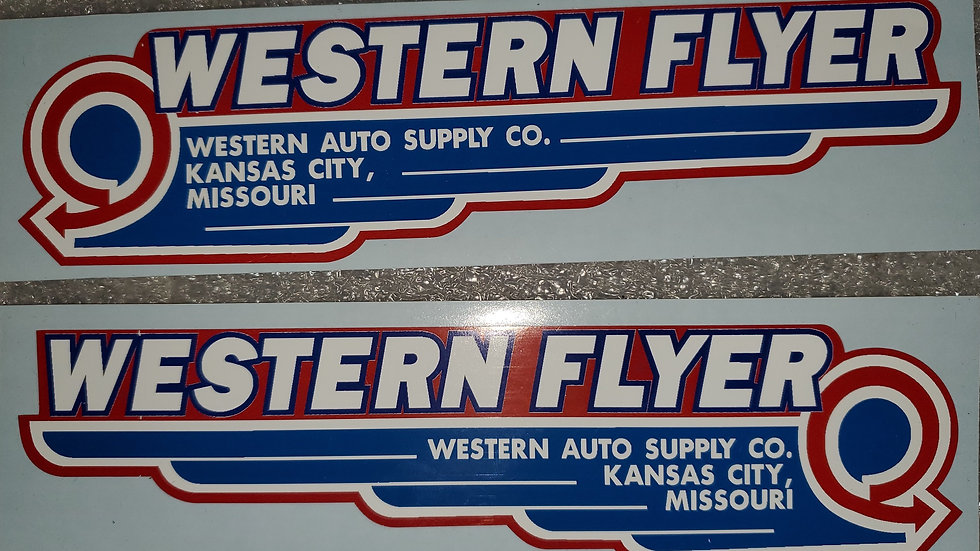 Western Flyer decal