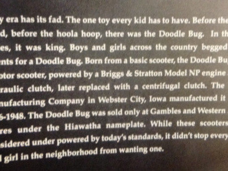 A little Doodle Bug Scooter History…