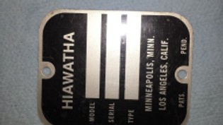 ~ Serial tag - Hiawatha