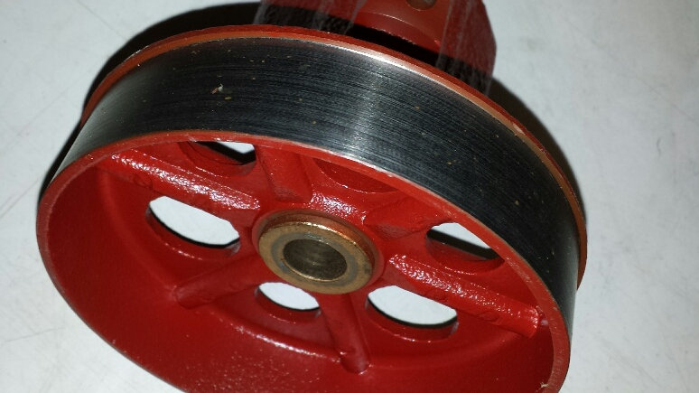 Rear Hub/Brake drum. Sandblasted and painted with new oil wick & oilite bushings