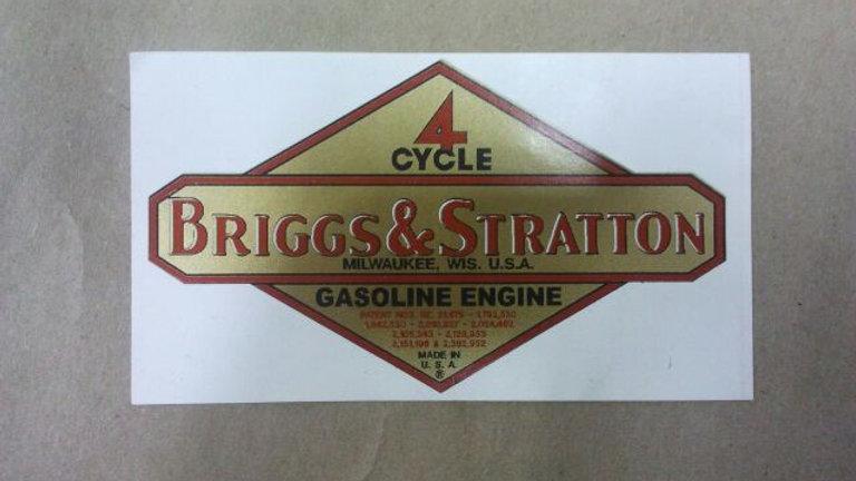 Briggs & Stratton gasoline engine decal