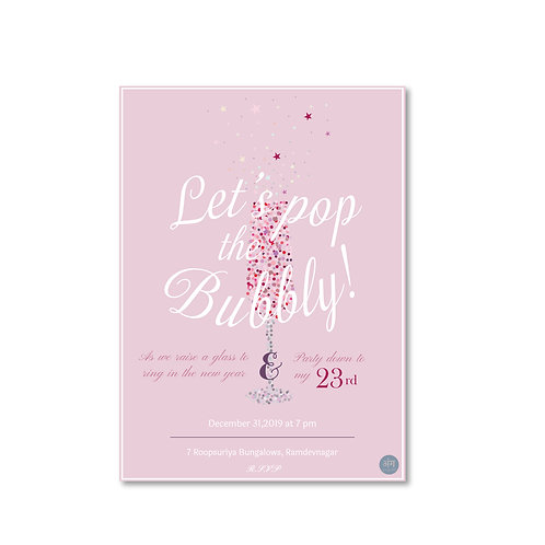 Let's Pop The Bubbly! - Party Invite