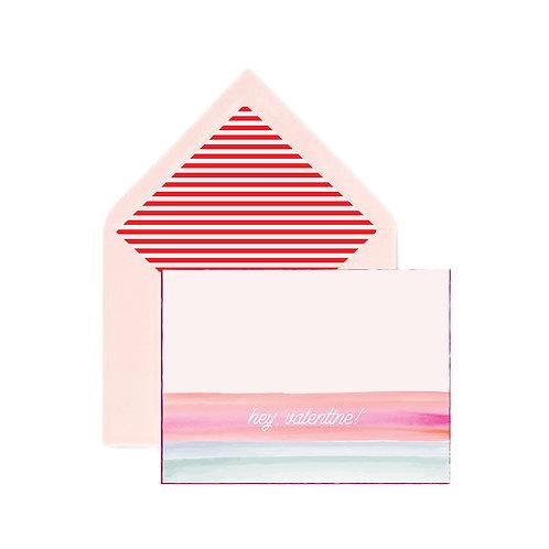 Hey Valentine notecard