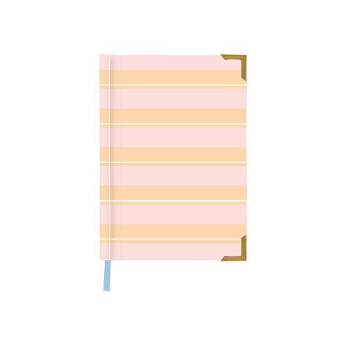 Striped Summer Pink Notebook
