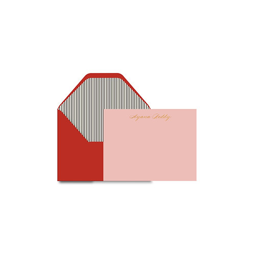 Blush Personalized Flat Notes