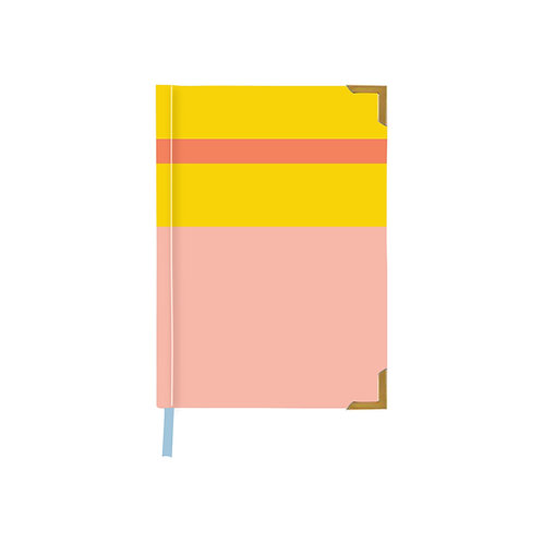 Color Block Coral Notebook