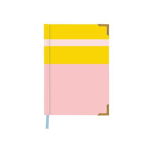 Color Block Summer Pink Notebook