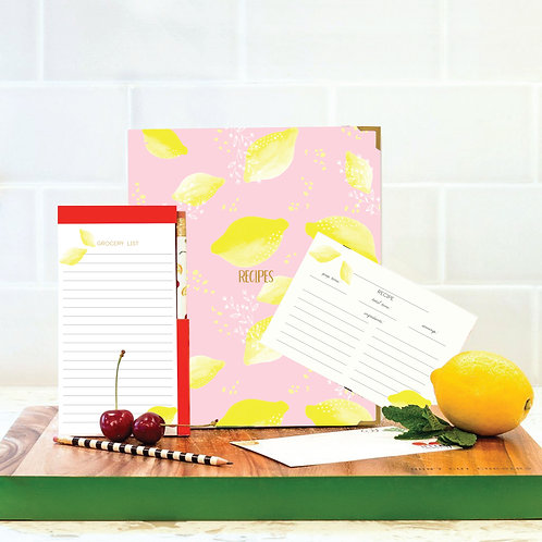 Lemon Recipe Book Set